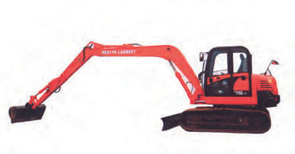 Doosan DX75 Long Reach Excavator